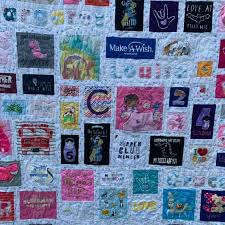 memory quilt made from baby clothes