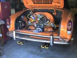 1971 volkswagen karmann ghia engine start
