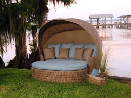 canopy outdoor bed wicker rattan patio daybed with cool cover pics  decoration inspiration