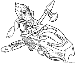 Lego Chima Coloring Pages Lionl