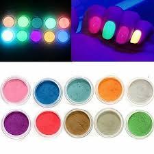 10 colors glow in the dark nail fluorescent tattoo acrylic powder deco