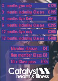 gym cork catalyst membership s