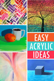 abstract acrylic painting ideas for beginners easy painting ideas 6 acrylic subjects for beginners