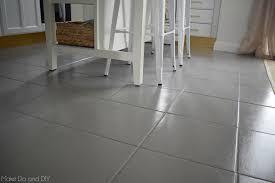 painted tile floor six month update grey floors99 painted