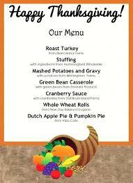 Thanksgiving Grocery List Template Thanksgiving Dinner Menu Template