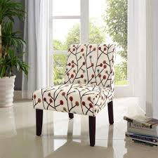 The Home Depot Teagan Armless Floral Accent Chair