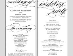Document Template : White Wedding Programme Blank Contract Wedding ...