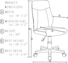 standard dining room chair height desk chair height office chair seat height desk office chair height