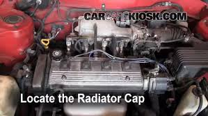 coolant flush how to geo prizm 1993 1997 1993 geo prizm 1 6l 6 radiator cap remove the radiator cap before draining