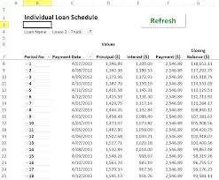 Car Loan Amortization Table Amortization Schedule Excel Creating An In Create Sample Loan