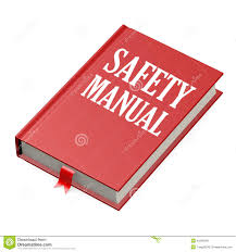Safety Manual Isolated Red Book With Safety Manual Stock Illustration 4