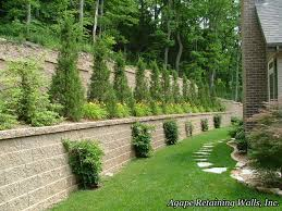 Small Picture Cool Small Backyard Retaining Wall Ideas Images Decoration