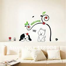 two lovely dogs vinyl wall sticker decal kids room decor on sale beautiful wall art on beautiful wall art decor with two lovely dogs vinyl wall sticker decal kids room decor on sale