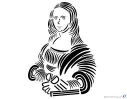 Mona Lisa Coloring Page Monesmapyrenecom