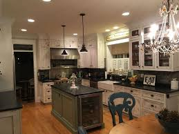 Garner Appliance Country Kitchen With Farmhouse Sink Inset Cabinets In