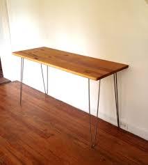 brown wooden butcher block desk