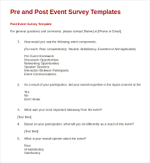 post event survey questions template 21 feedback survey templates free sample example format