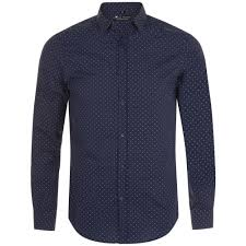 <b>Рубашка мужская BECKER MEN</b>, темно-синяя с белым (артикул ...