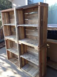 Shelves Made From Pallets Rustic Bathroom Shelves Made From Reclaimed Pallet Wood Art For