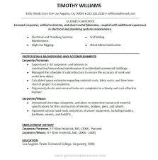 Foreman Job Description Resume Carpenter Job Description For Resume Resume For Study 2
