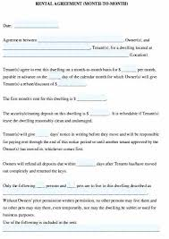Month To Month Rental Agreement Template Blank Month To Month Rental Agreement Davidhdz Co
