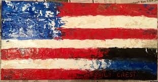 how to paint an american flag with heavy gel um and acrylic paint