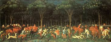 how to write dazzlingly brilliant essays sharp advice for   the hunt in the forest by paolo uccello