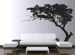 silhouette wall decals living room wall decal with silhouette of tree on  white wall ideas living