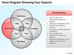 Diagram Venn Ppt How To Draw Business Process Diagram Venn Showing Four