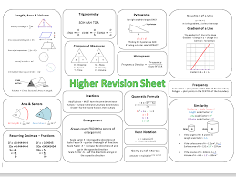 foundation gcse maths revision sheets by brabanski teaching resources tes
