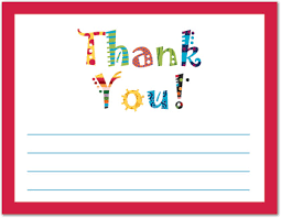 Kids Fill In Thank You Cards Kids Thank You Notes Thank Yous