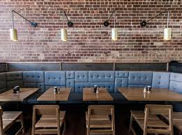 Fifty Acres, Melbourne. Modern industrial. Great booth seating.
