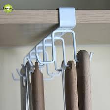 10 Hook Coat Rack Mesmerizing 32 Hooks Kitchen Storage Rack Wardrobe Hanging Cup Of Coffee