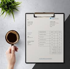 View Simple Invoice Template PNG