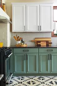 chalk painted kitchen cabinets. Fine Cabinets Chalk Paint Kitchen Cabinet Makeover Intended Painted Cabinets Y