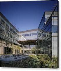modern office buildings. Courtyard At Modern Office Building Canvas Print By Robert Pisano Buildings