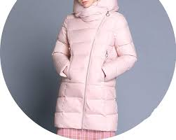 Light Pink Down Jacket Amazon Com Long Hooded Coat Winter Woman Coats Thickening