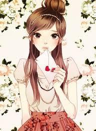 Cute cartoon girl