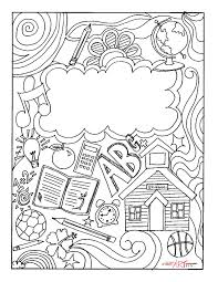 Coloring Page Binder Cover Binder Cover Coloring Page Binder Cover Printable Coloring Page