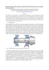 Bearing Clearance Chart Pdf Pdf Determination Of The Optimum Preload Of Roller Bearings