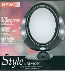 new revlon 1x or 3x battery operated lighted swivel mirror rvmr9016ppub1