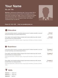 Resume Templates Free Download Word Basic Resume Template 53 Free
