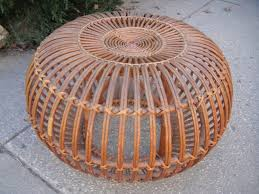 Round Rattan Ottoman Coffee Table Round Wicker Ottoman For Your Living Room Home Furniture