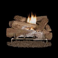 superior fireplaces 24 mossy oak gas log set with vent free gas mega flame burner on off wall switch