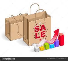 Shopping Bag Growth Chart Big Sale Sellout Retail Black