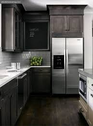 Dark Wood Floors In Kitchen Grey Kitchen Cabinets Dark Wood Floors Quicuacom