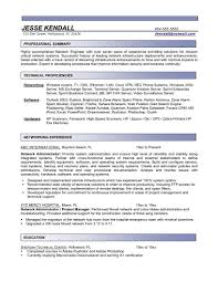 It Administrator Resume Sample Linux System Administrator Resume