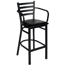 metal bar stools with arms counter stools modern kitchen bar