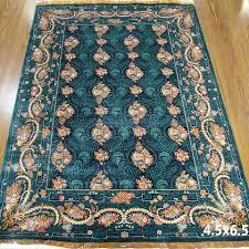 blue turkish persian silk carpet handmade oriental rugs