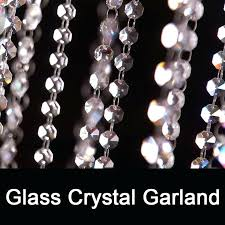 crystal garland for chandelier meters clear crystal glass beaded garlands chandelier crystal strands for wedding centerpiece